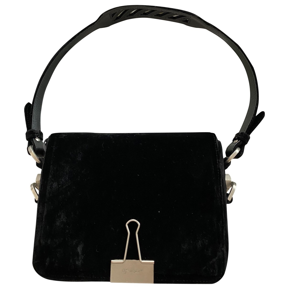 Off-white Binder Black Velvet handbag for Women \N