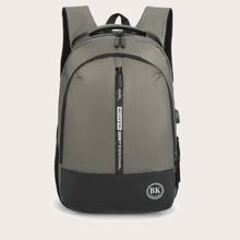 Men Zip Front Backpack