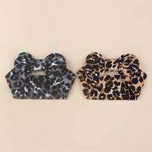 2 Stuecke Baby Haarband mit Leopard Muster