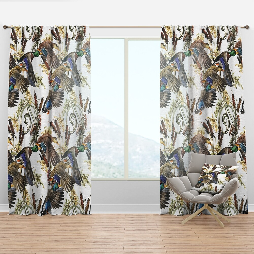 Designart 'Illustration of colored duck' Animals Curtain Panel (50 in. wide x 120 in. high - 1 Panel)
