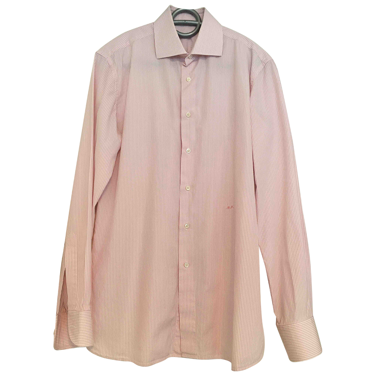 Non Signé / Unsigned N Pink Cotton Shirts for Men L International