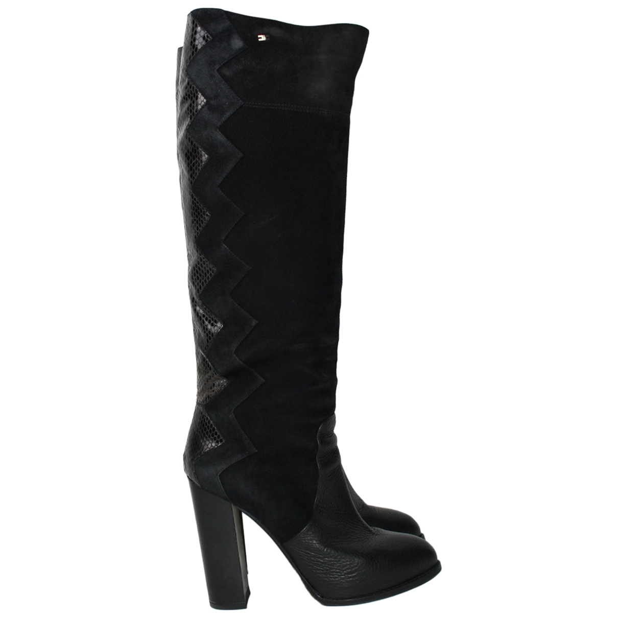 Elisabetta Franchi \N Black Suede Boots for Women 39 EU
