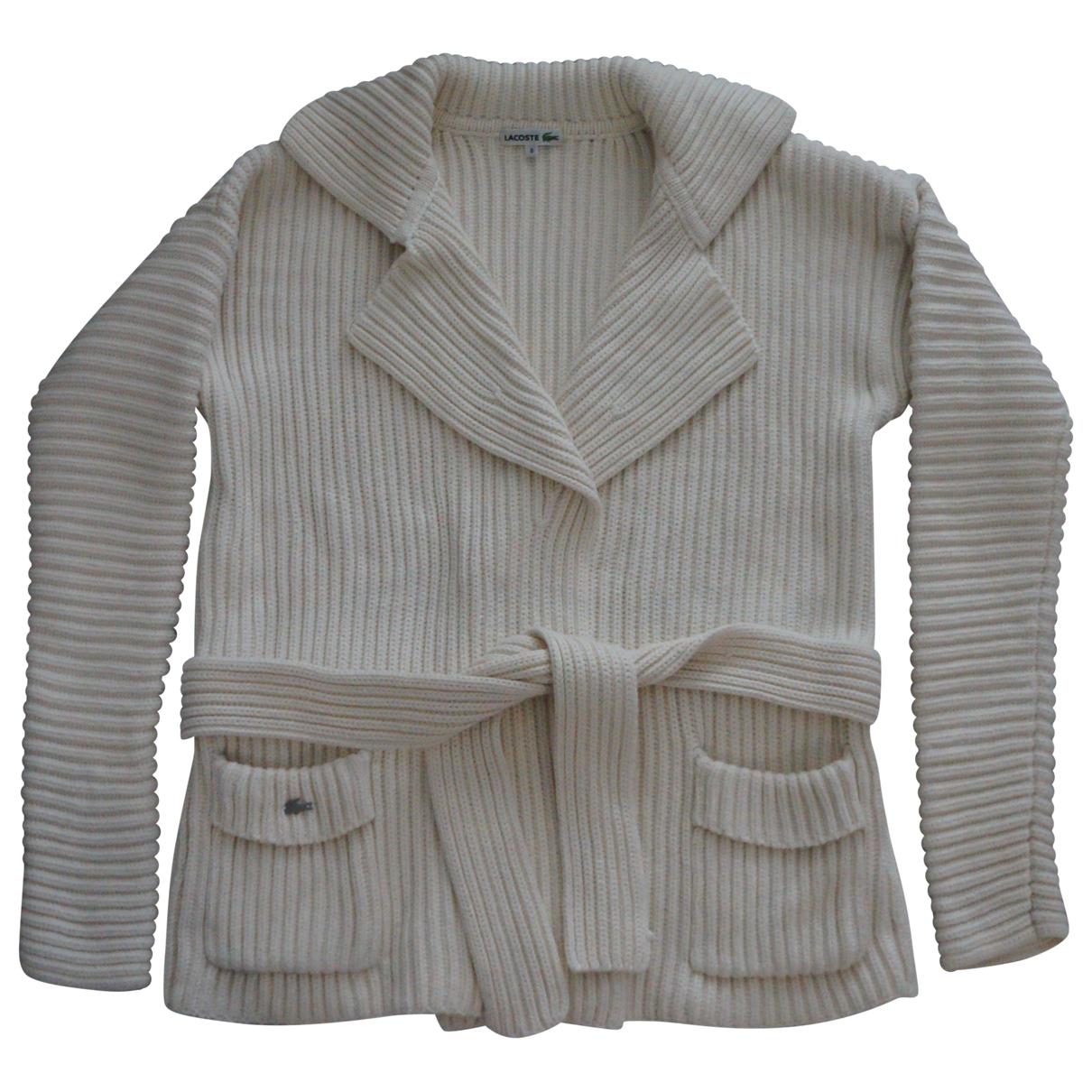 Lacoste \N Pullover in  Beige Baumwolle
