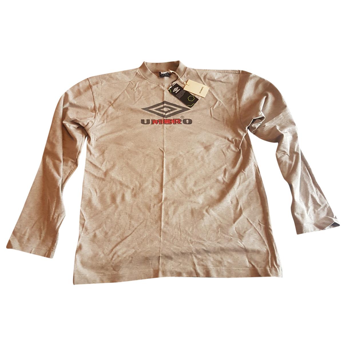 Vetements \N T-Shirts in  Grau Baumwolle