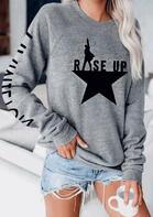 Rise Up Star Sweatshirt - Gray