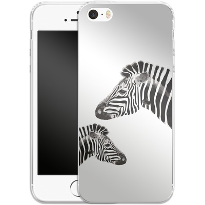 Apple iPhone 5 Silikon Handyhuelle - Zebra Pride von Mukta Lata Barua