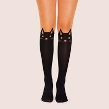 Schwarz Tiere Casual  Socken