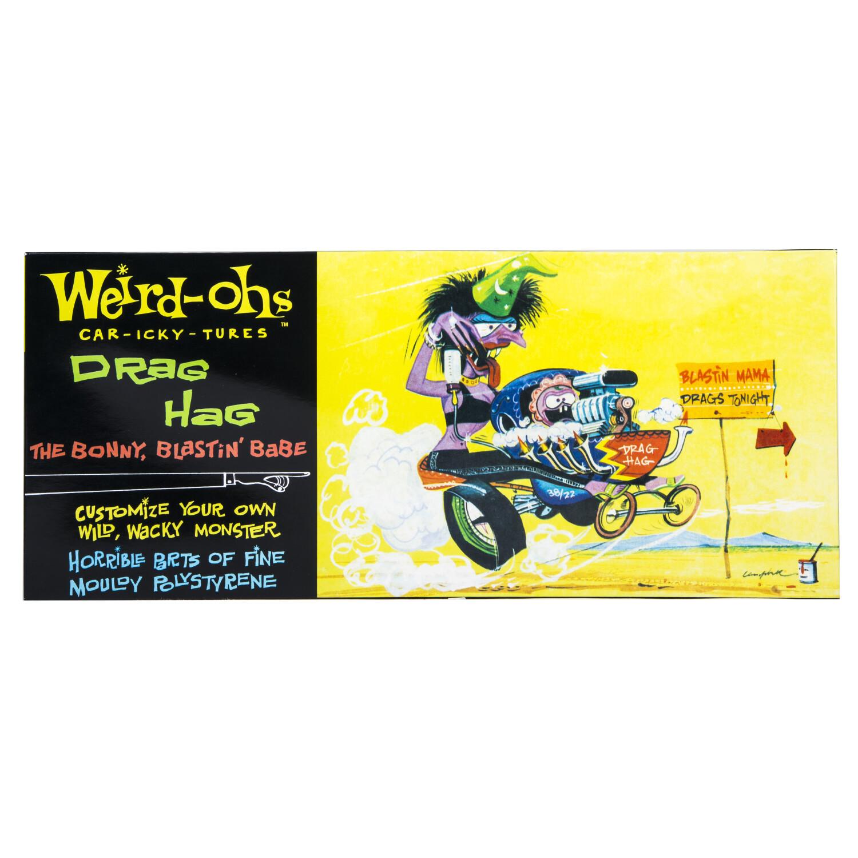 Hawk Model Company Weird-Ohs Drag Hag the Bonny, Blastin Babe Model Kit