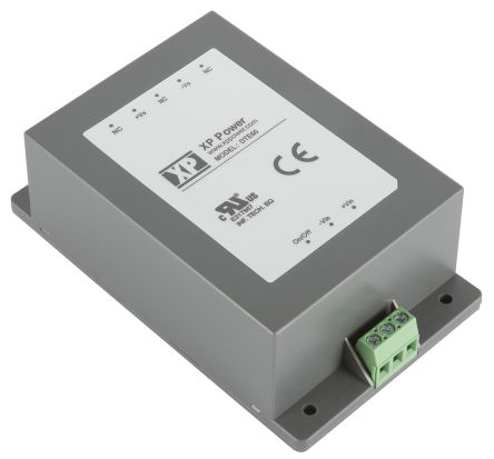 XP Power DTE60 60W Isolated DC-DC Converter Chassis Mount, Voltage in 9 → 36 V dc, Voltage out 24V dc
