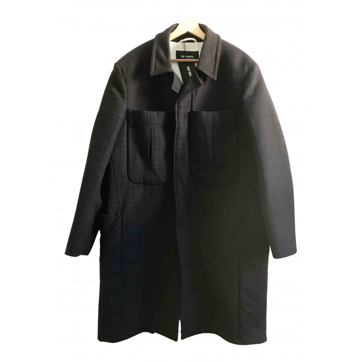Raf Simons - Manteau   pour homme en laine - marron