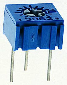 Bourns 1MΩ, Through Hole Trimmer Potentiometer 0.5W Top Adjust , 3362