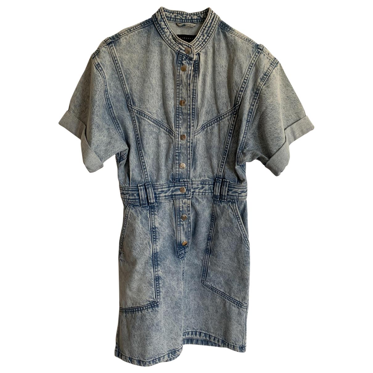 Topshop - Robe   pour femme en coton - bleu