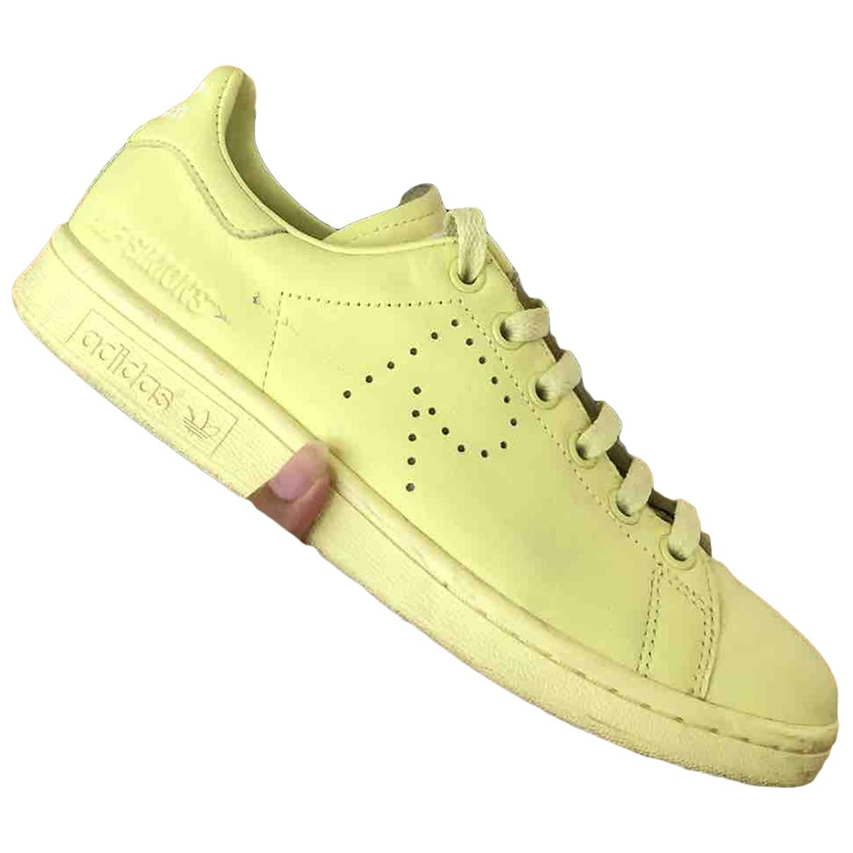 Adidas X Raf Simons - Baskets Stan Smith pour femme en cuir - jaune