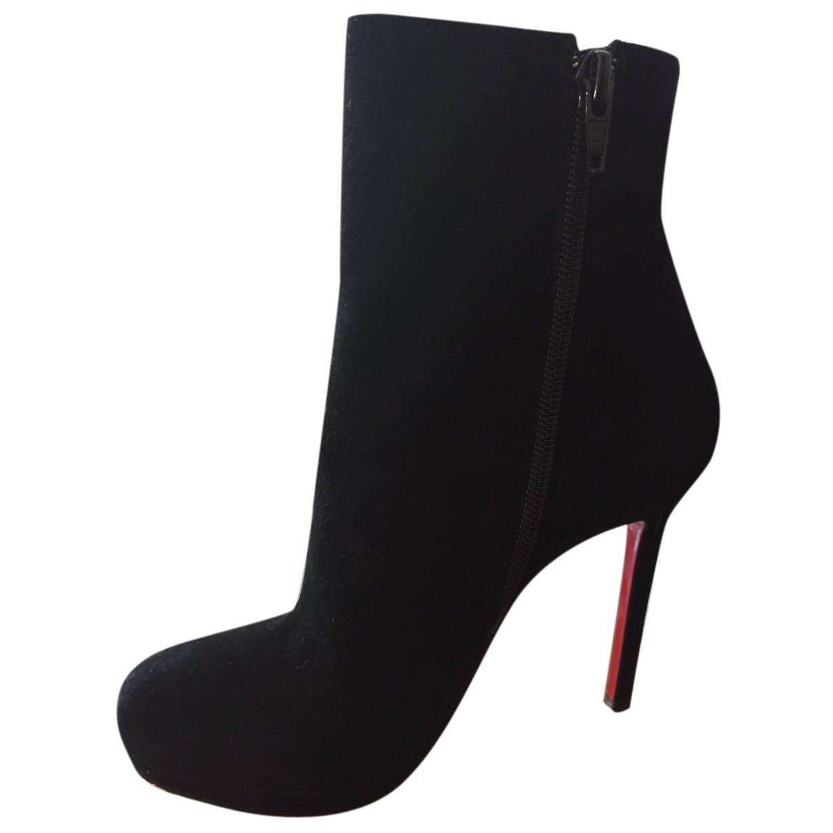 Christian Louboutin N Black Pony-style calfskin Boots for Women 36.5 EU