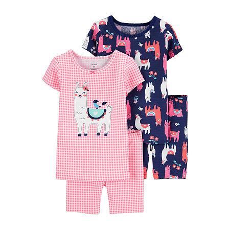 Carter's Toddler Girls 4-pc. Pajama Set, 2t , Multiple Colors