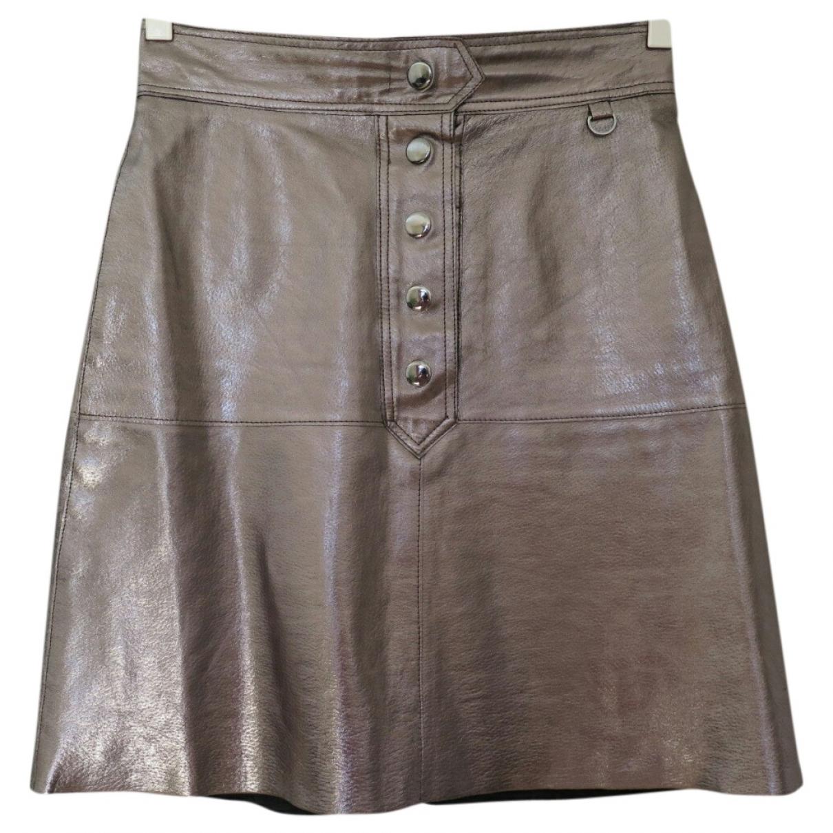 Zara \N Metallic Leather skirt for Women XS International