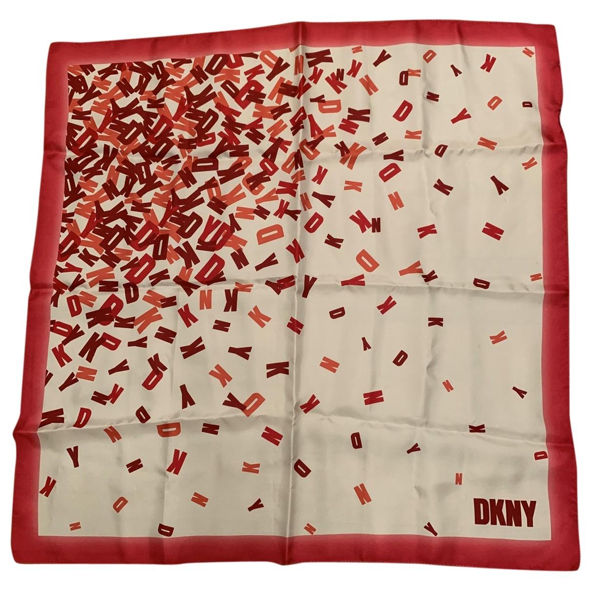 Dkny - Carre   pour femme en soie - rouge