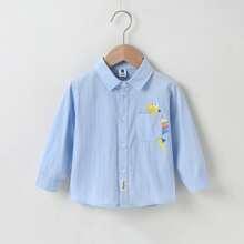 Camisas para niño pequeño Bolsillo Letras Casual