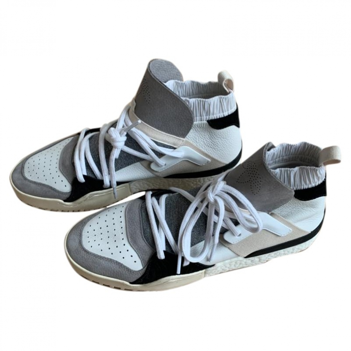 Adidas Originals X Alexander Wang \N White Leather Trainers for Men 10.5 UK