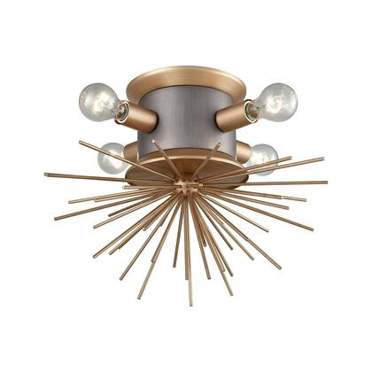 D3572 Lucy Spike Flush Mount  In Antique Gold  Weathered