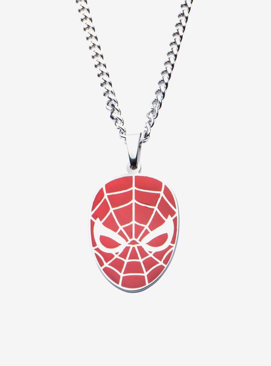 Marvel Stainless Steel Red Spider-Man Pendant