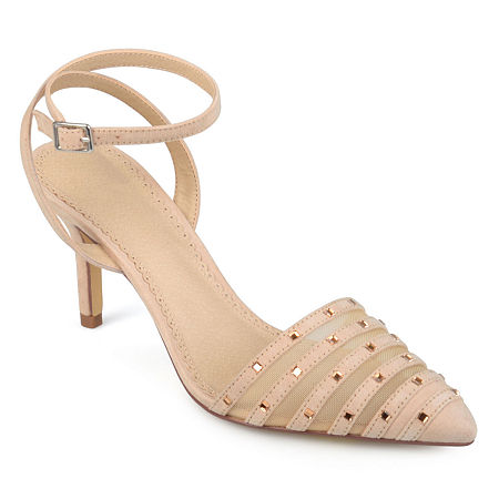 Journee Collection Womens Meera Pumps Stiletto Heel, 8 Medium, Beige