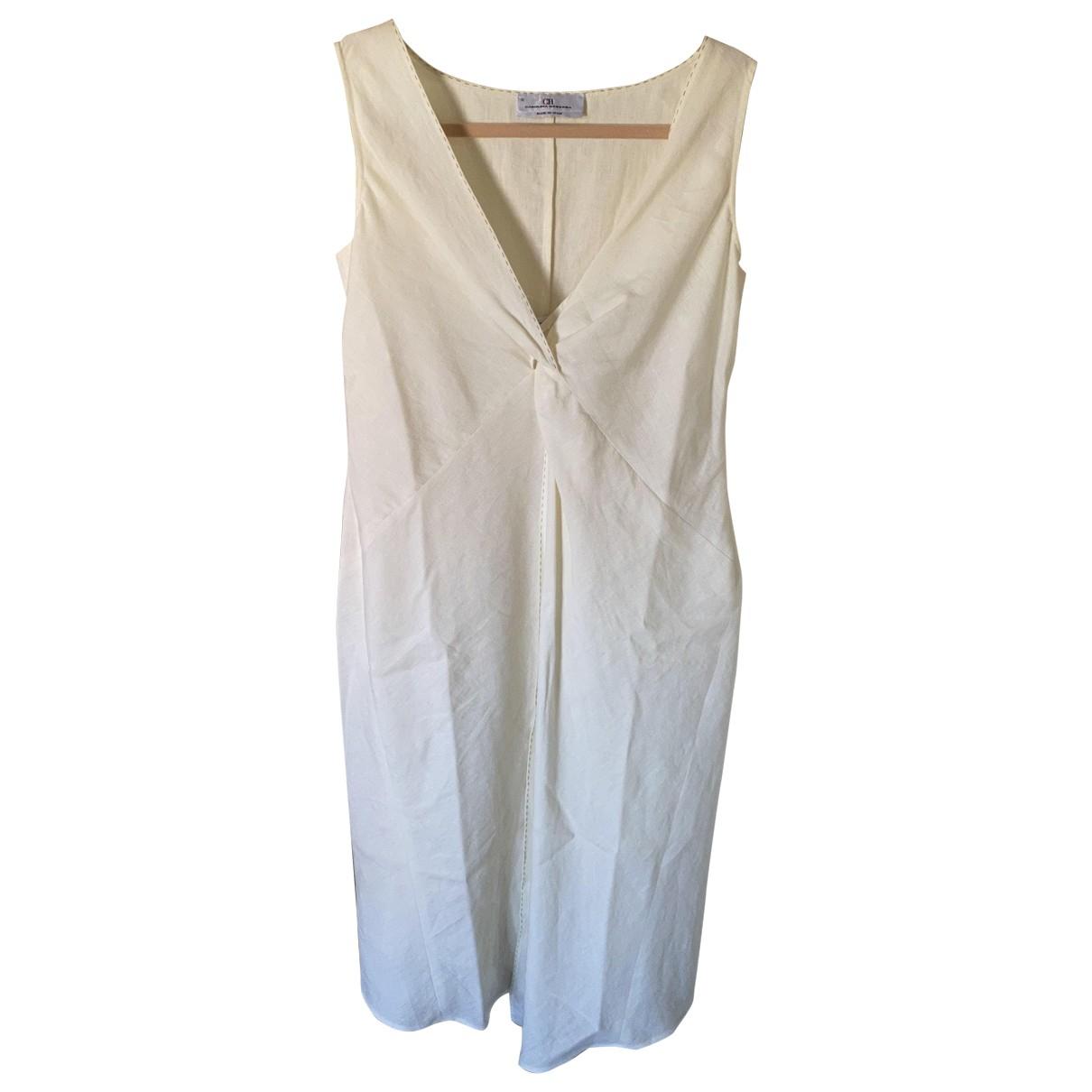 Carolina Herrera - Robe   pour femme en lin - blanc