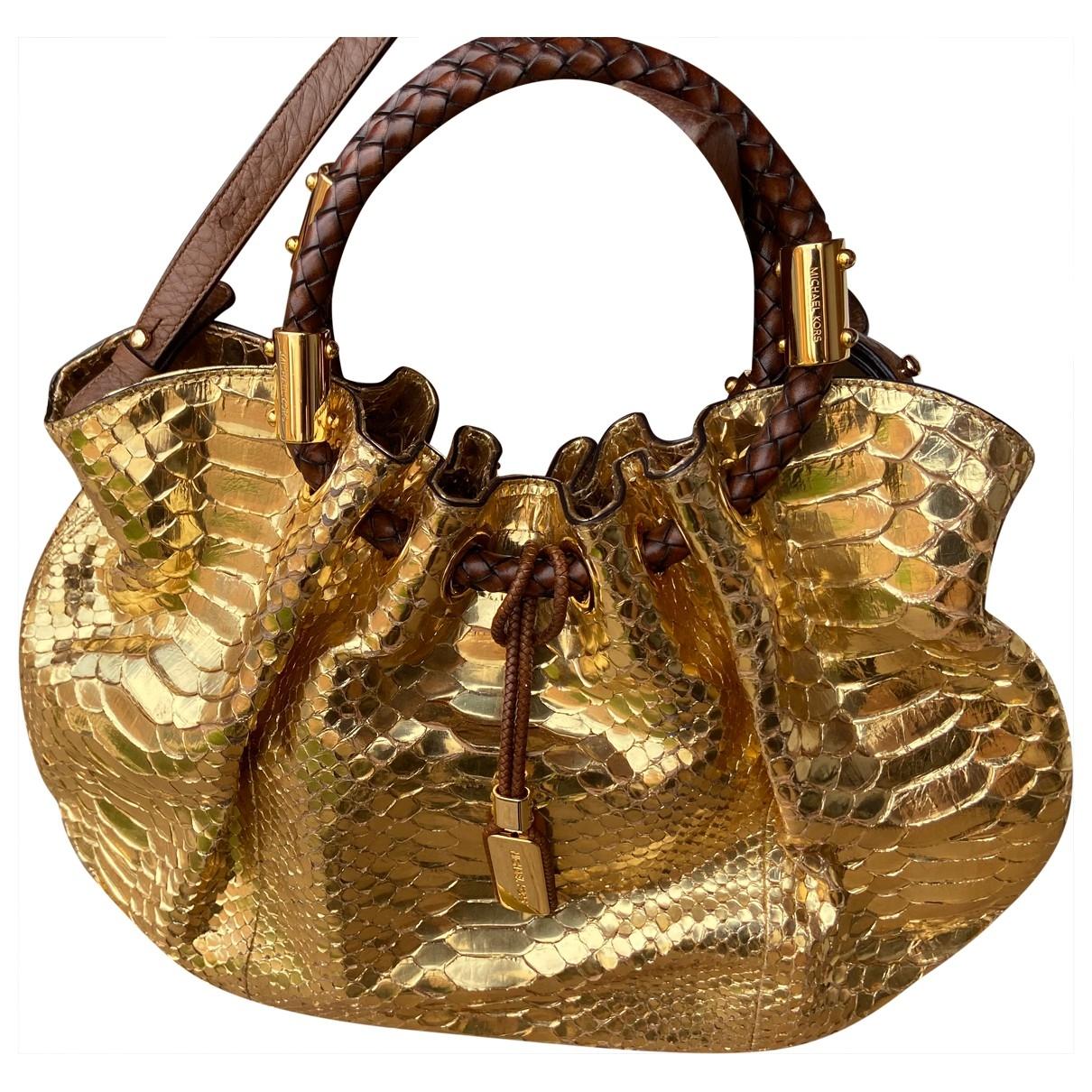 Michael Kors \N Gold Leather handbag for Women \N