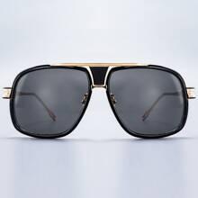 Sonnenbrille mit metallischem Einsatz