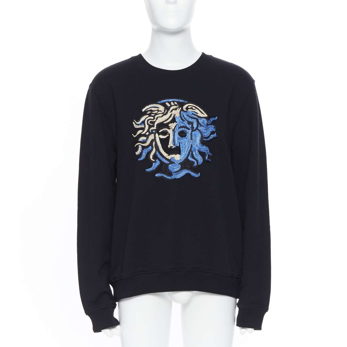 Versace \N Black Cotton Knitwear & Sweatshirts for Men XXXL International