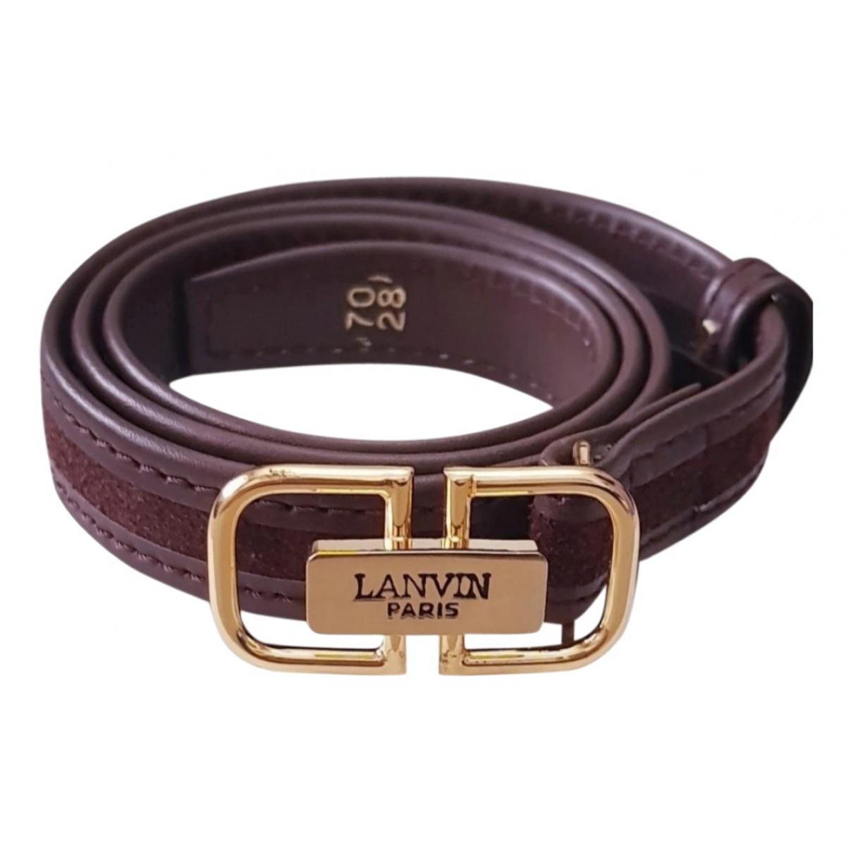 Lanvin \N Brown Leather belt for Women 70 cm