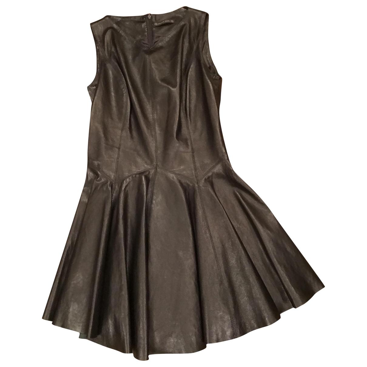 Plein Sud \N Kleid in  Schwarz Leinen