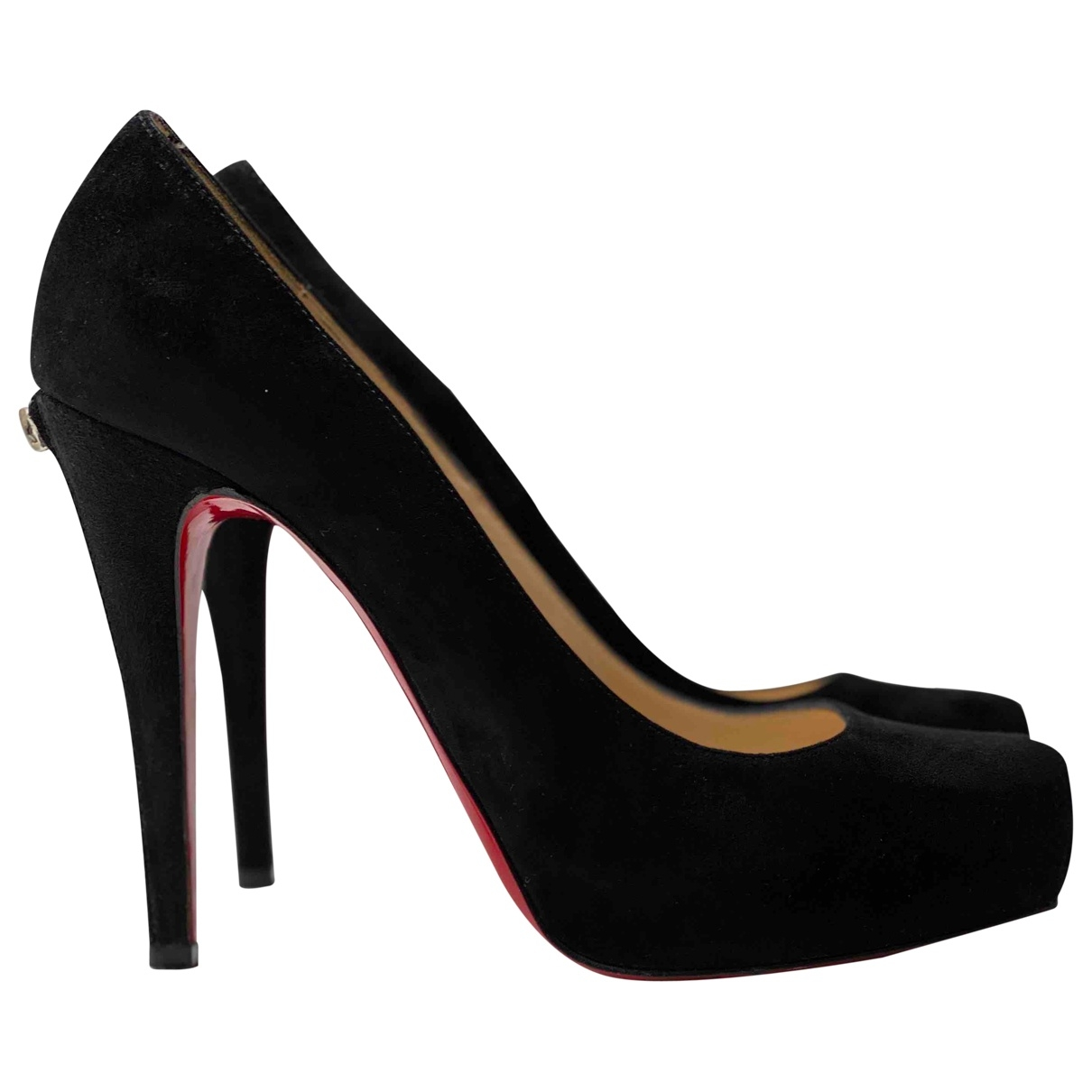 Christian Louboutin \N Pumps in  Schwarz Veloursleder
