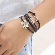 Armband mit Elefant und Anker Dekor