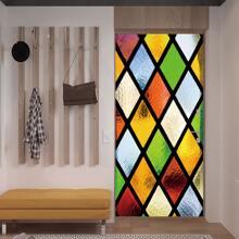 Tueraufkleber mit geometrischem Muster