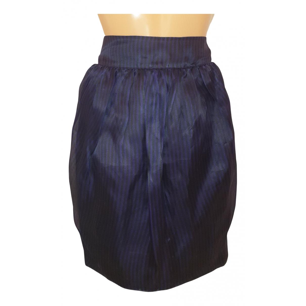 Byblos - Jupe   pour femme en soie - noir
