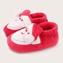 Baby Jungen Flats mit Weihnachtsmann Muster