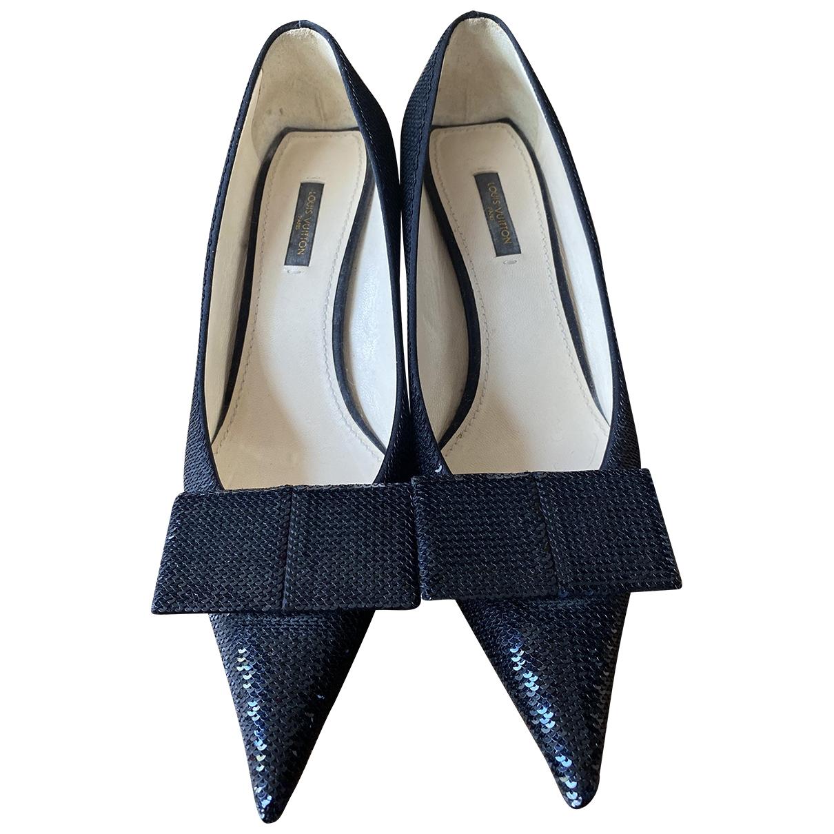 Louis Vuitton - Escarpins   pour femme en a paillettes - noir