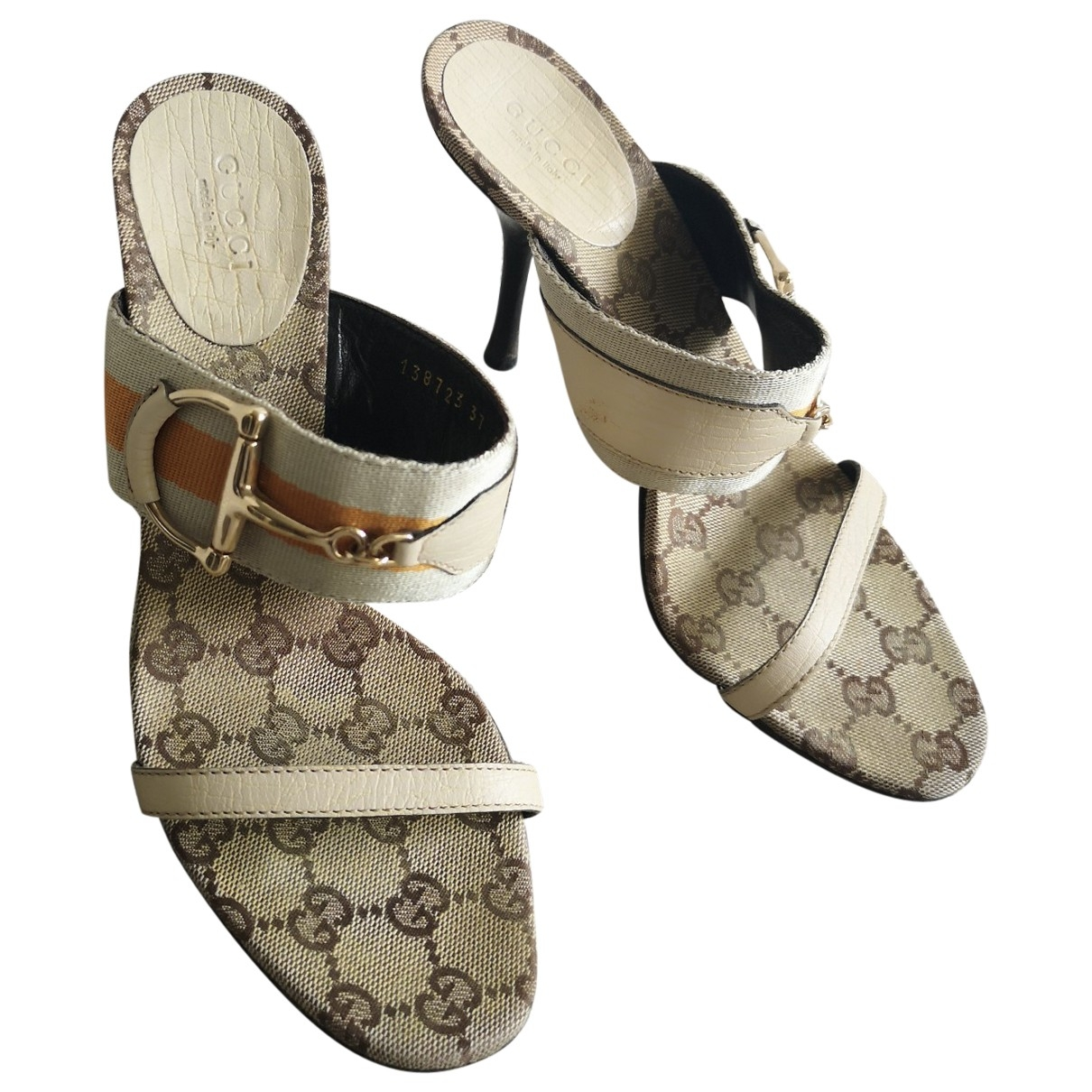 Gucci \N Beige Cloth Sandals for Women 37 EU