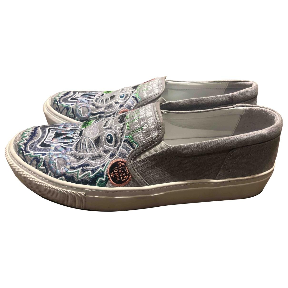 Kenzo \N Sneakers in  Grau Leinen