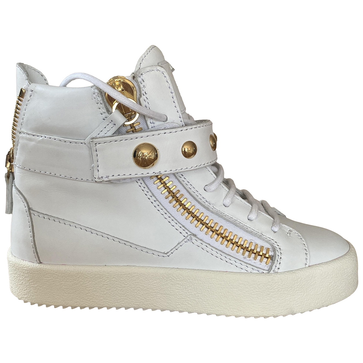 Giuseppe Zanotti Donna White Leather Trainers for Women 35 IT