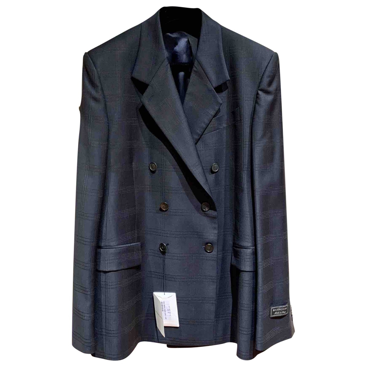 Balenciaga \N Blue Wool jacket  for Men 48 FR