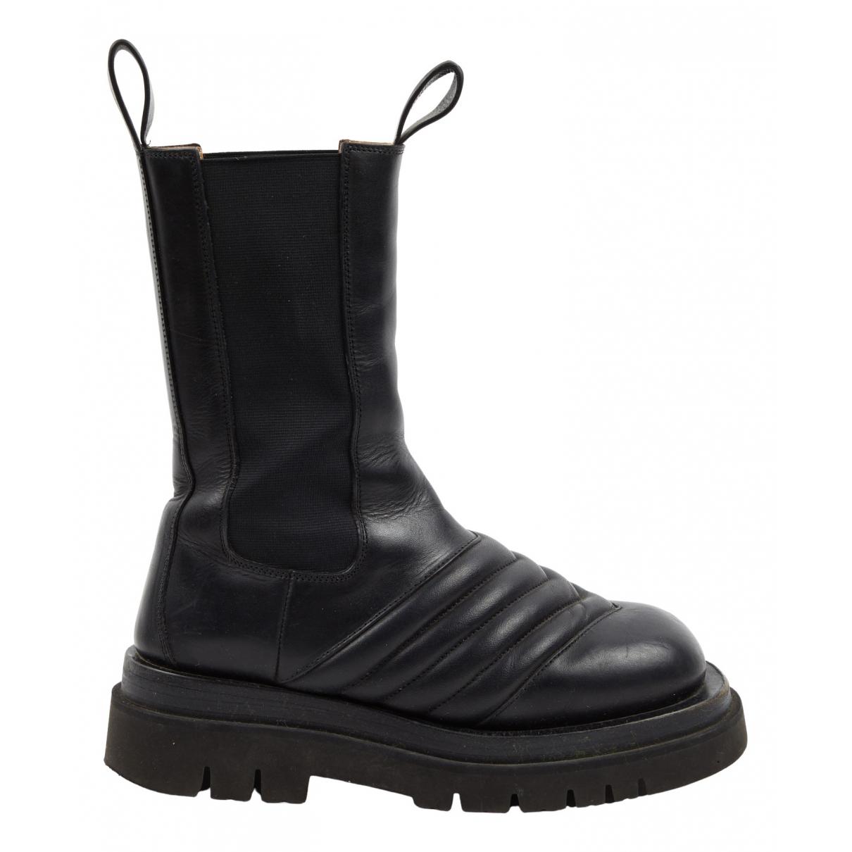 Bottega Veneta \N Black Leather Boots for Women 37.5 EU