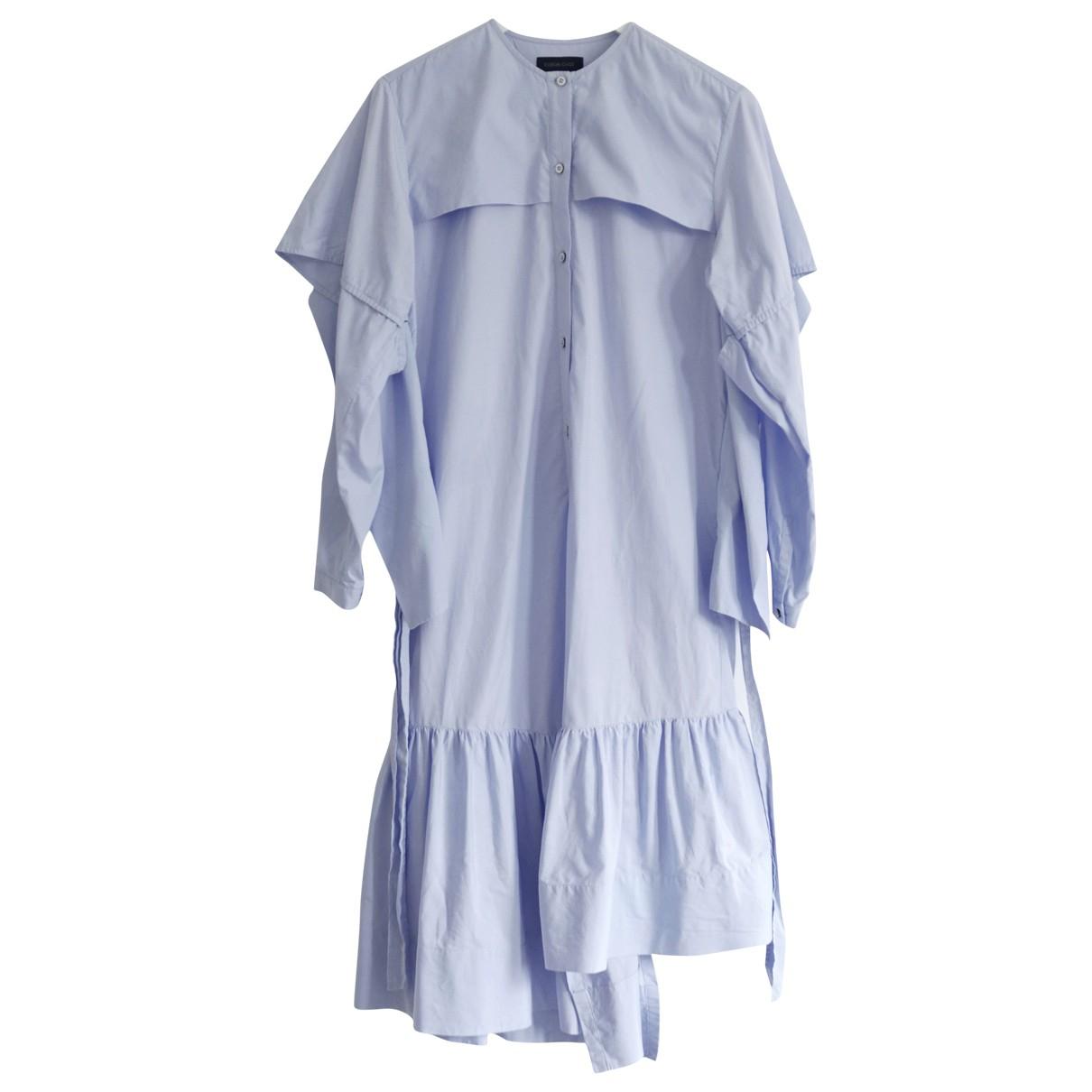 Eudon Choi \N Blue Cotton dress for Women 10 UK