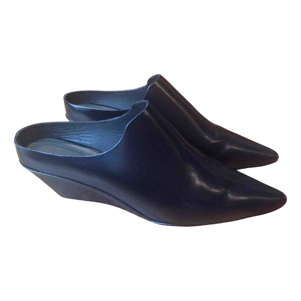 Cos N Black Leather Mules & Clogs for Women 36 EU