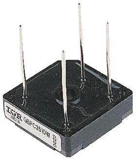Vishay GBPC2510W-E4/51, Bridge Rectifier, 25A 1000V, 4-Pin GBPC-W (2)