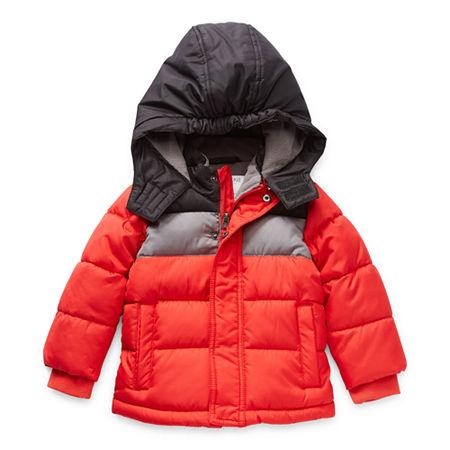 Okie Dokie Baby Boys Heavyweight Puffer Jacket, 18 Months , Red