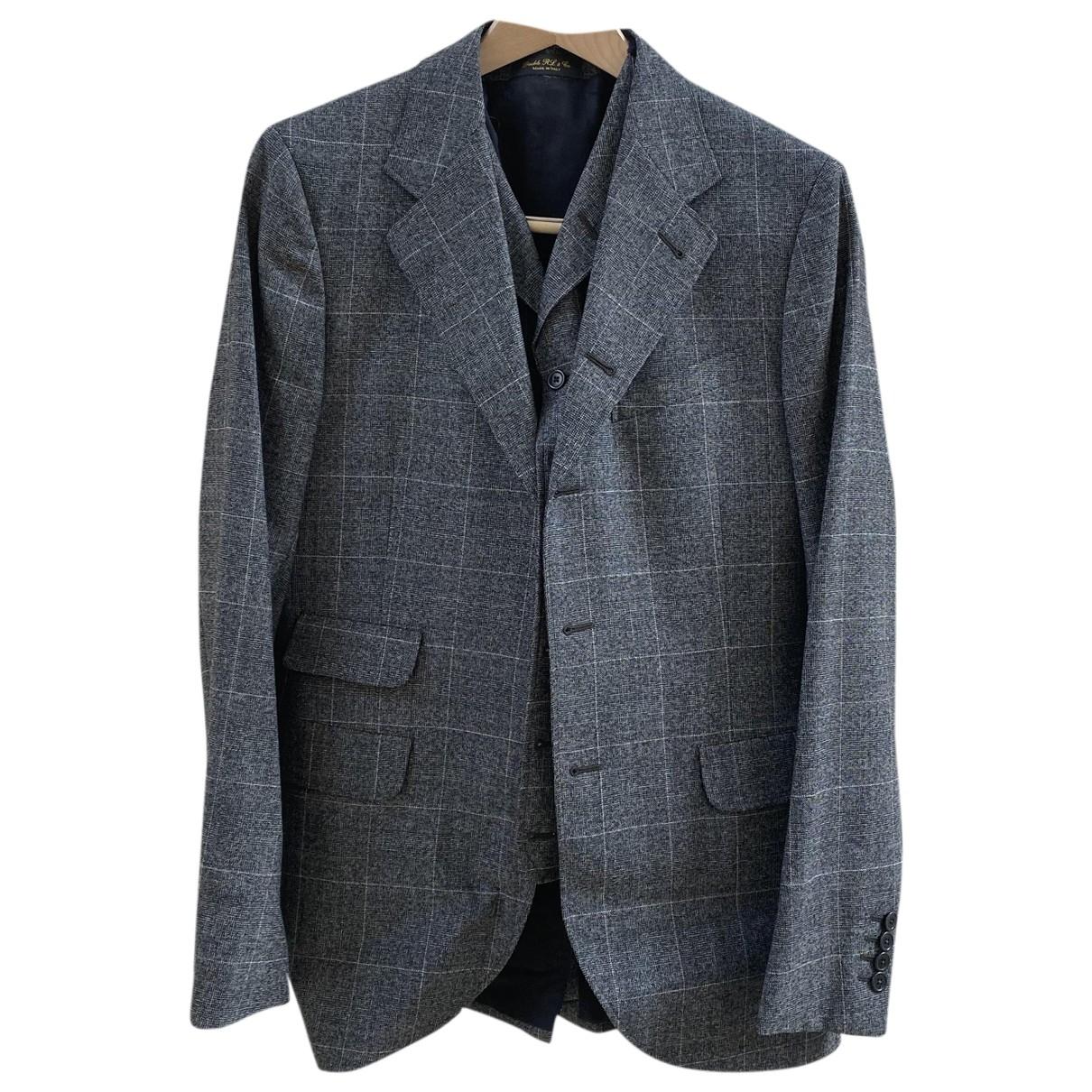 Ralph Lauren Double Rl - Costumes   pour homme en laine - gris