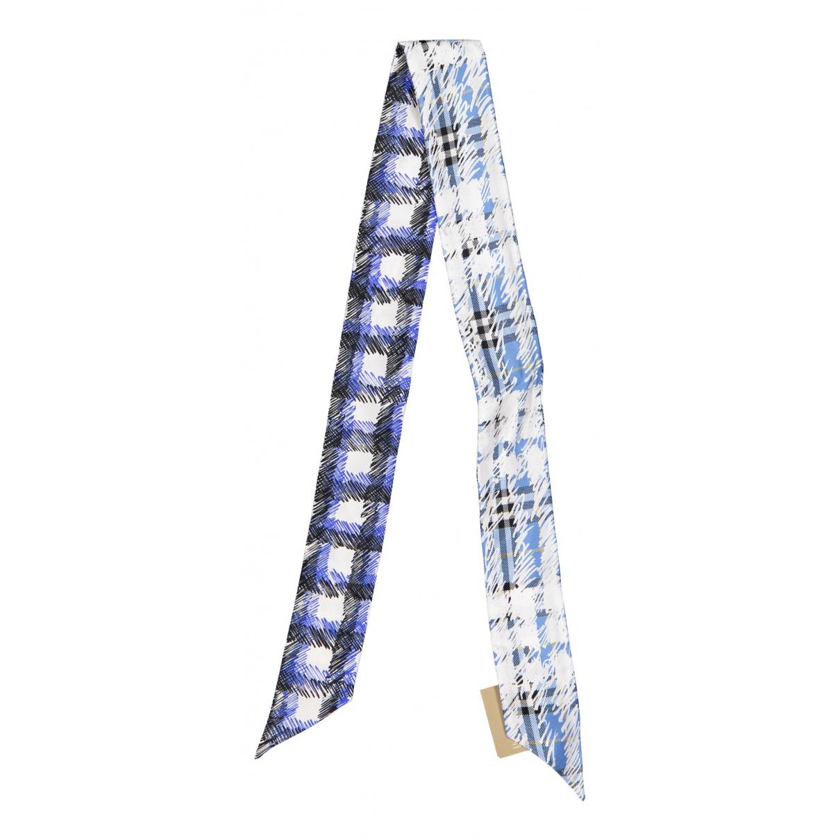 Burberry N Blue Silk scarf for Women N
