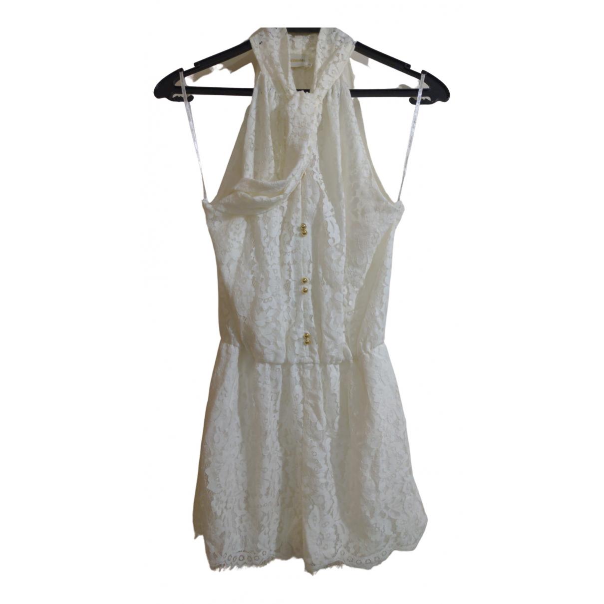 Zimmermann \N White Cotton jumpsuit for Women 000 0-5